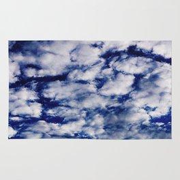deep blue clouds Rug