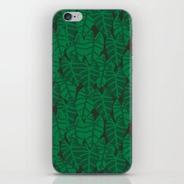 Elephant Ear house plant tropical garden green minimal pattern iPhone Skin