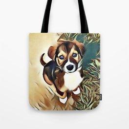 A Saint Bernard Puppy Tote Bag