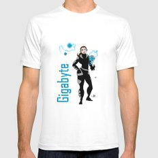 Gigabyte Mens Fitted Tee White SMALL