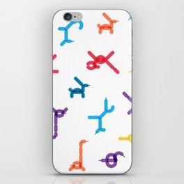 Balloon animals pattern #1 iPhone Skin