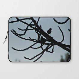 Sparrows Silhouette Birds Tree Bare Branches Laptop Sleeve