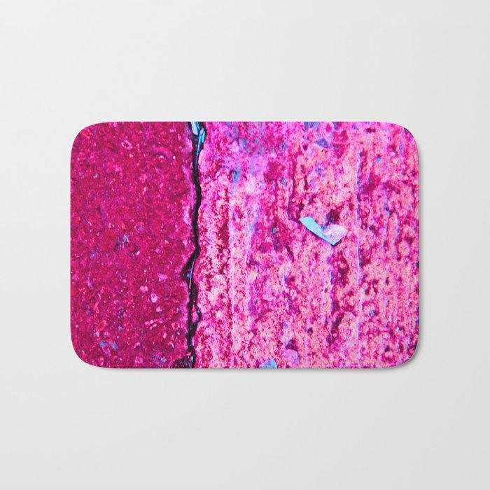 Neon Pink Road Bath Mat
