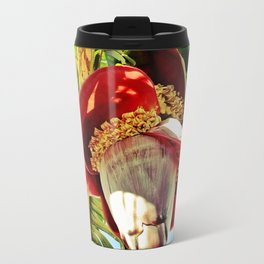 Banana Flower Metal Travel Mug