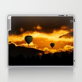 Hot Air Balloons Through the Clouds Laptop & iPad Skin