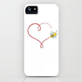 Heart Bumblebee Bee Trajectory Honey Gift iPhone Case