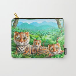 Tiger and Cubs Carry-All Pouch