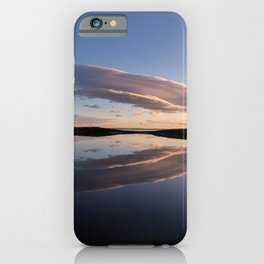 Lenticular clouds reflection iPhone Case