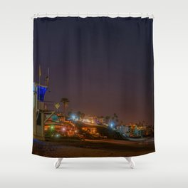 Main Beach at Night Shower Curtain