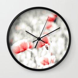 Poppy Poppies Mohn Mohnblume Flower Wall Clock