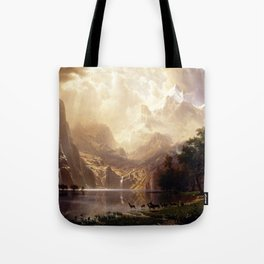 Albert Bierstadt - Among the Sierra Nevada, California Tote Bag