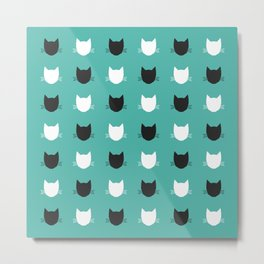 Cat Pattern 03 Metal Print