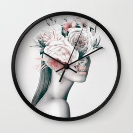 WOMAN WITH FLOWERS 11 Wall Clock