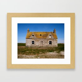Yellow roof Framed Art Print