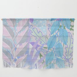 Modern Jungle Plants - Blue, Purple Wall Hanging