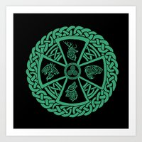 celtic Art Prints featuring Celtic Nature by Astrablink7
