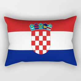 Flag of croatia -croatian, Hrvatska,croat,croacia,Zagreb,split,rijeka,osijek. Rectangular Pillow