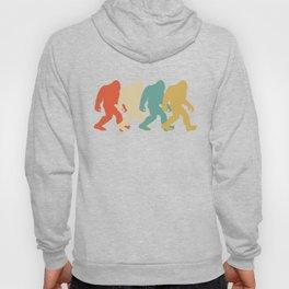Bigfoot Silhouette Retro Pop Art Sasquatch Graphic Hoody