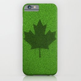 Grass flag Canada / 3D render of Canadian flag grown from grass iPhone Case