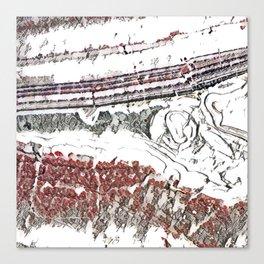 Marble Floor Pencil Color Sketch Canvas Print