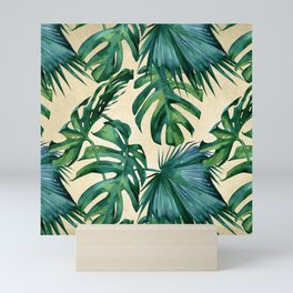 Tropical Island Republic Green on Linen Mini Art Print