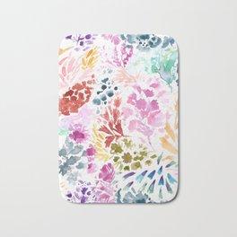 cornelia. watercolor florals. Bath Mat