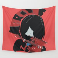 marceline Wall Tapestries featuring Adventure Time - Marceline  ( in - style ) by Seez