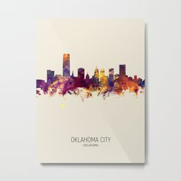 Oklahoma City Skyline Metal Print