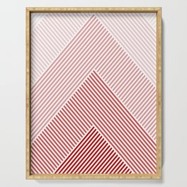 Shades of Red Abstract geometric pattern Serving Tray