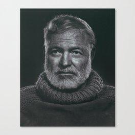 Earnest Ernest Hemingway Canvas Print
