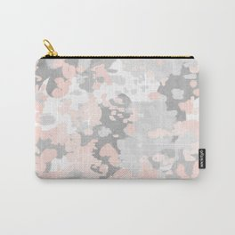 camo pink and grey abstract brushstrokes modern canvas art decor dorm college Carry-All Pouch