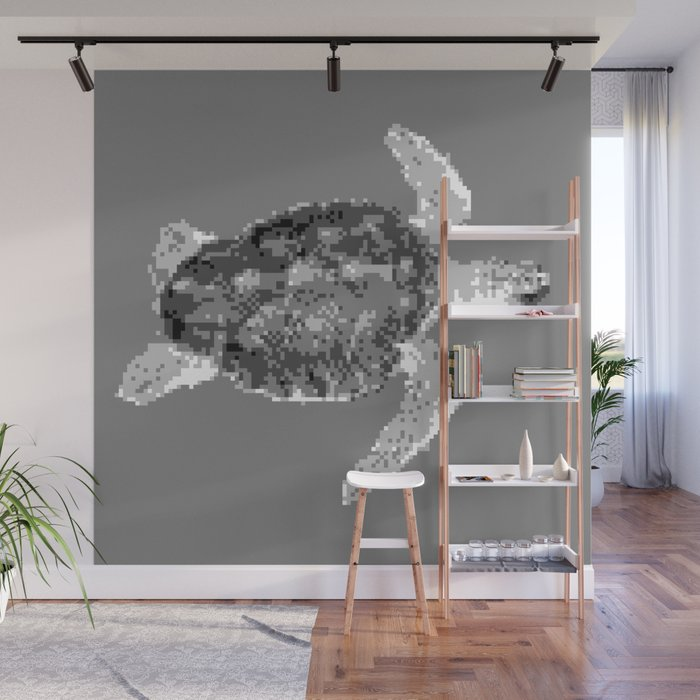 Low Res Sea Turtle Wall Mural By