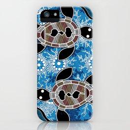 Sea Turtles - Authentic Aboriginal Art iPhone Case
