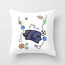lazy cat chilling Sports Throw Pillow
