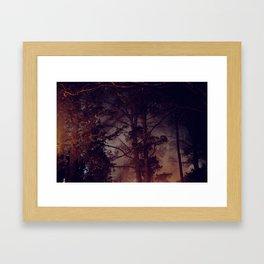 lit up forest Framed Art Print