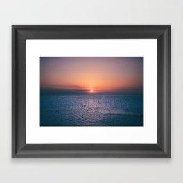 Beach Sunset // Landscape Photography Framed Art Print