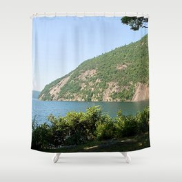 Roger's Rock on Lake George, NY Shower Curtain