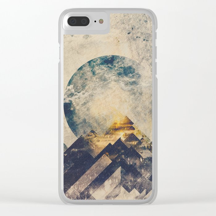 One mountain at a time Clear iPhone Case
