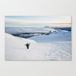 Hiking to the top of Tongariro Canvas Print