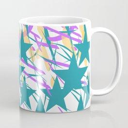 Turquoise Stars & Pastel Streemers Coffee Mug