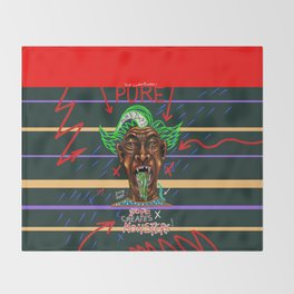 Pure Dope Creates Monsters Throw Blanket