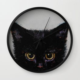 Black Kitten Wall Clock