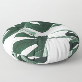 Monstera, Leaves, Plant, Green, Scandinavian, Minimal, Modern, Wall art Floor Pillow