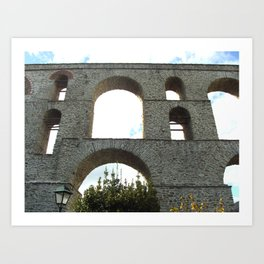 ancient Roman aqueduct Art Print