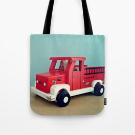 Toy Fire Truck Tote Bag