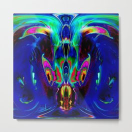 Dragon Dolphin Cave Metal Print