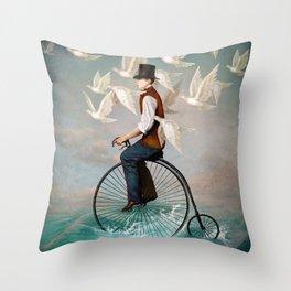 Ocean Ride Throw Pillow