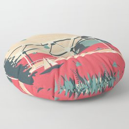 Passing By Floor Pillow