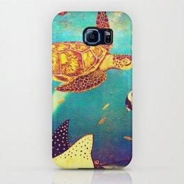 Beautiful Sea Turtles Under The Ocean Painting iPhone Case