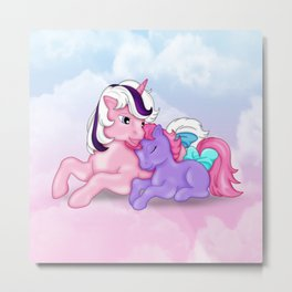 g1 my little pony Twilight and baby Ember Metal Print